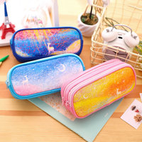 DELI multifunction pencil bag bright colors large capacity pencil bag pupils pencil pouch school writing stationery accessories