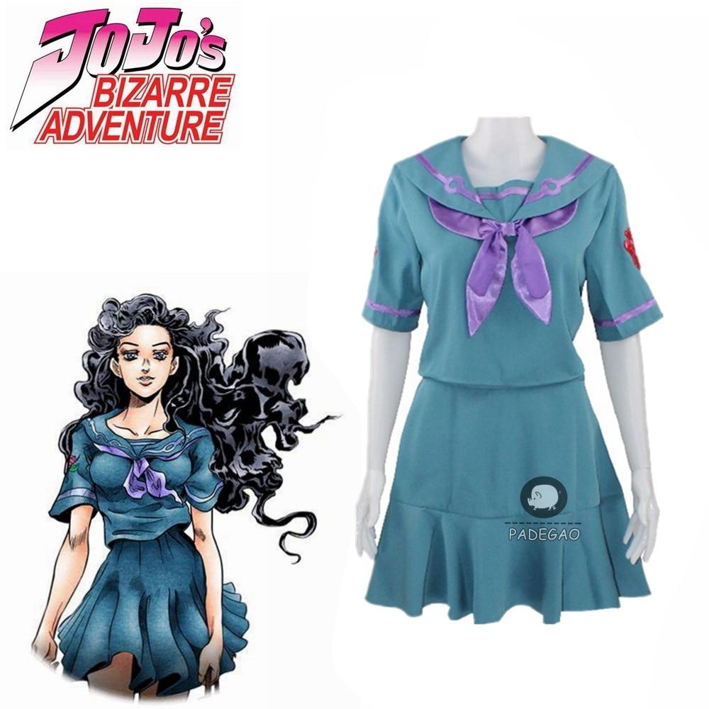 JoJo's Bizarre Adventure Yamagishi Yukako Dress Cosplay Costume Top+skirt Custom Any Size