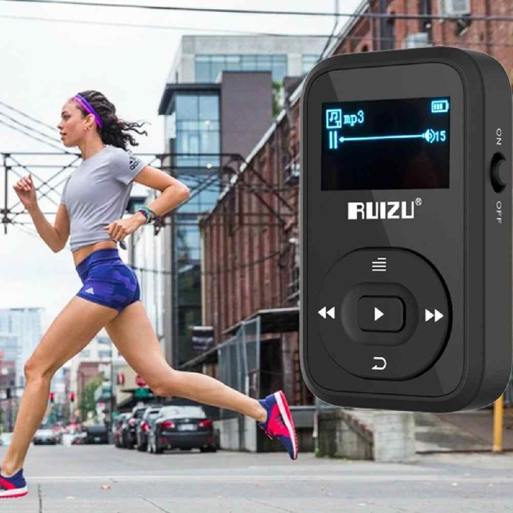 بيسكلوفر روزو X26 8 جيجابايت كليب الرياضة بلوتوث مشغل موسيقى MP3 شاشة OLED ضياع الصوت أداء رائع مشغل MP3 r60