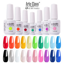 Arte Clavo 15ml 455 kolor żel lakier usuwanie żelu UV polski paznokci żel polski Gellack Hybrid LED Semi Permanent Manicure do dekoracji paznokci