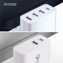 Amstar 48 واط USB C PD شاحن سريع تهمة QC4.0 3.0 شحن سريع السفر محول آيفون 11 XS XR X سامسونج 10 9 هواوي شاومي