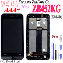 купить New Replacement 4.5'' LCD for Asus ZenFone Go ZB452KG X014D LCD Display Touch Screen Digitizer Assembly with Frame Free Tool дешево