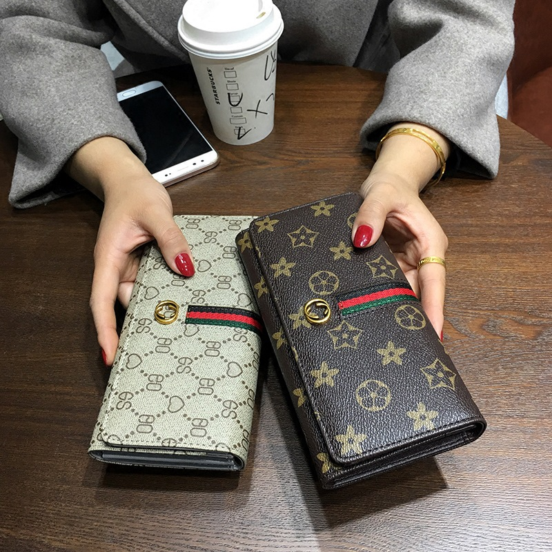 Europe And America 2019 New Style Carrying Wallet Women's Long Students Leather Wallet Fashion Large Capacity Wallet Cool Mobile