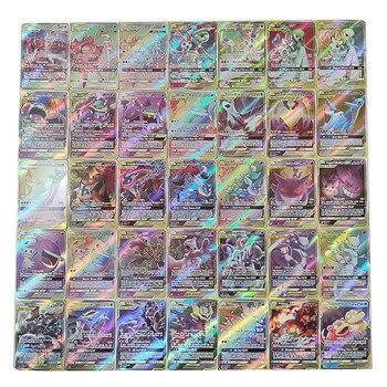 TAKARA TOMY Brand New 100 GX Golden Flash Card B Pokémon EX Card Pokémon Flash Card Pokémon High Quality Collection Toys
