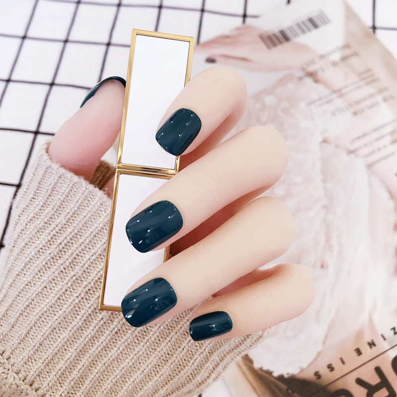Fake Nails Patch Long-lasting Waterproof Nail Stickers Finished Product Europe And America Ventilation Network Red Seemless Stic
