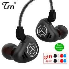 Auriculares metálicos TRN V90 4BA + 1DD, auriculares híbridos con Monitor de auriculares con graves HIFI, cancelación de ruido, V80 ZS10 PRO X6