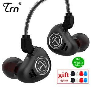 Image 1 - سماعات أذن TRN V90 4BA + 1DD معدنية وحدات هجينة مزودة بجهير هاي فاي ، سماعات داخل الأذن ، سماعات أذن بخاصية إلغاء الضوضاء V80 ZS10 PRO X6