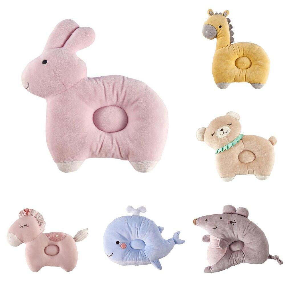 1 pièces bébé nouveau-né oreillers belle Animal motif bébé forme oreiller Anti-rollover bébé appuie-tête coussin d'oreiller