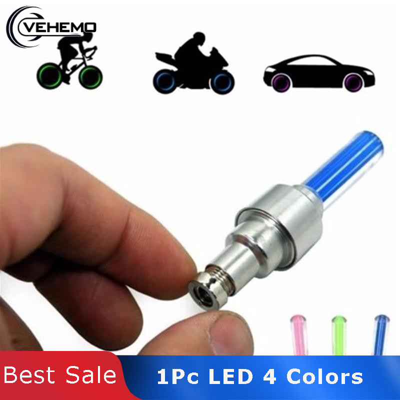 Vehemo 1Pc Car Motorcycle Tail Light Bicycle Luz Caps LED Neon Gas Nozzle Valve Glow Stick Light Car-Styling Decorative Lights