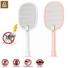Youpin 3 Schichten Mesh Elektrische Moskito klatsche Elektrische Handheld Moskito killer Insekten Fly Bug Moskito Klatsche Mörder