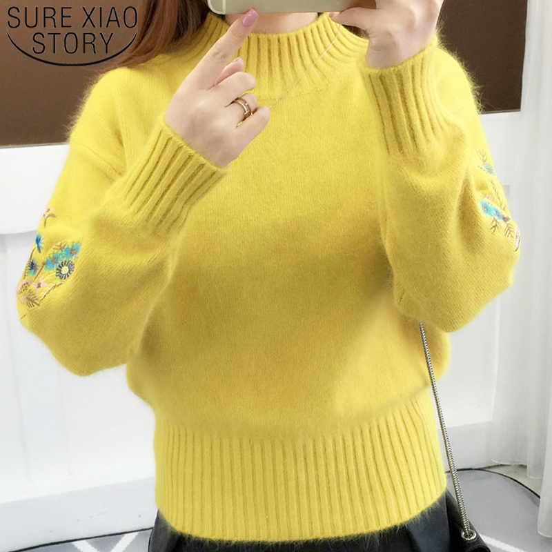 Women Sweater Blouses Long-Sleeve Elegant Knitted New-Fashion O-Neck Casual Clothing