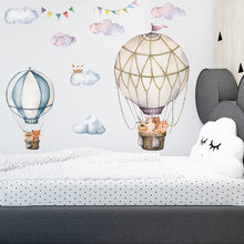 Hot Air Balloons Wall Stickers Decoration Cartoon Interior for Home Animals Modern posters Decoration Living Room Wallpapers