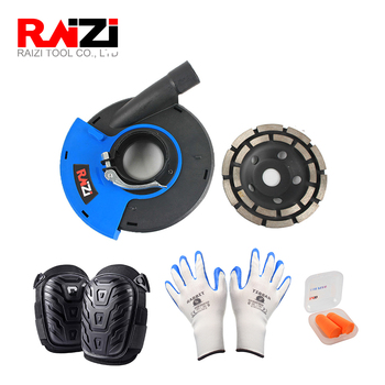 цена на 5 inch/125 mm dust shroud kit cover tool with diamond cup wheel for angle grinder concrete grinding