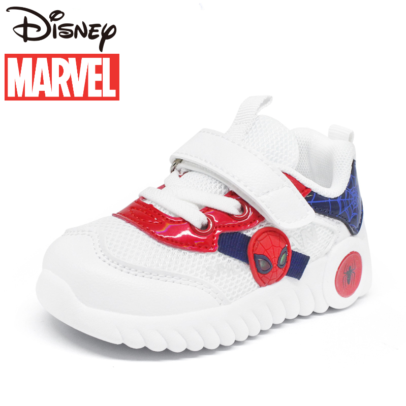 Disney Boys' Shoes Spiderman Children's Shoes Spring and Autumn Breathable Mesh Soft Sole Shoes Infant walking shoes S53064
