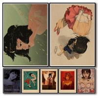WTQ-Póster de película Retro Kon Satoshi, lienzo de Pintura Anime, decoración de pared azul perfecta, imagen artística para habitación, decoración del hogar