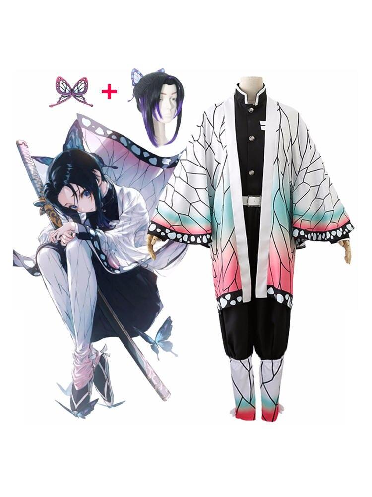 Costume Women Wig Uniform Kimono Christmas-Party-Costume Shinobu Cosplay Demon Slayer