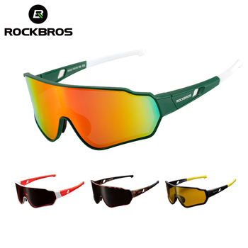 ROCKBROS Polarized Photochromic Cycling Glasses Bike Glasses Outdoor Sports MTB Bicycle Sunglasses Goggles Eyewear Myopia Frame