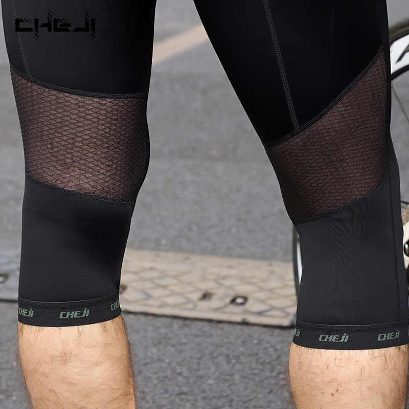 Cheji Fietsen Broek Mtb Racefiets 3/4 Broek Mannen Fietsen Sport Broek Gel Pad Fiets Shorts Zwart S-XXXL Ciclismo