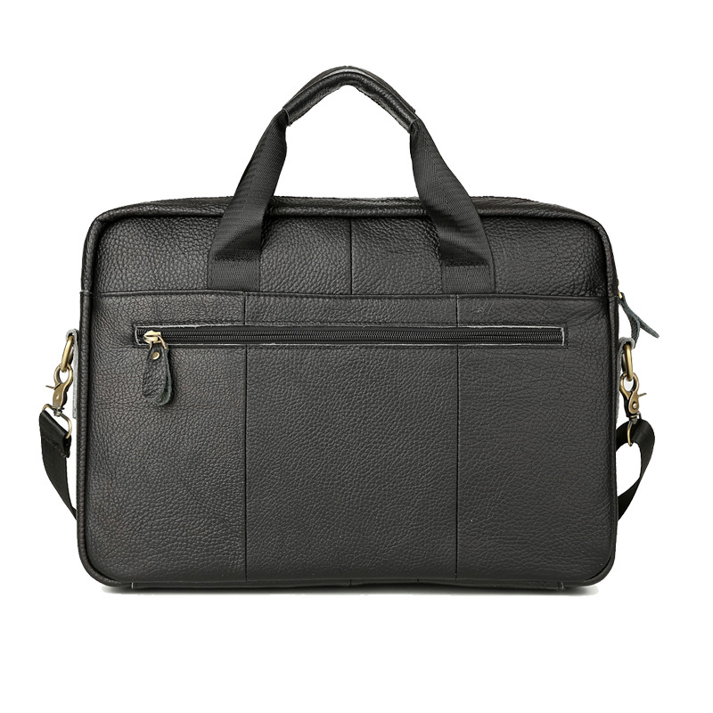 Hot Selling Briefcase Leather MEN'S Bag Business Leather Briefcase Shoulder Bag Men's Hand Bag