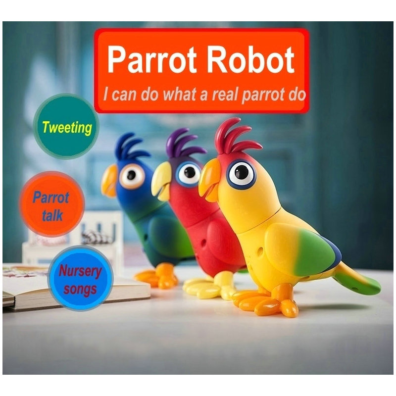 EKSLEN Parrot Robot Voice Robots for Kids Voice Command Touch Control Toys Cute Toy Smart Robotic New years Gifts 2