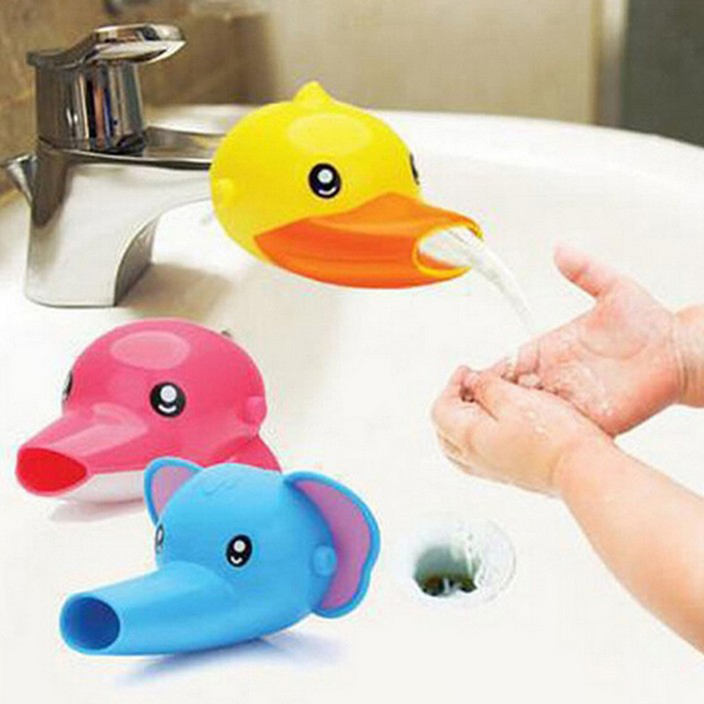 Baby Hand Wash Helper Faucet Extender Cartoon Animal Water Toys Water Play Game Baby Bath Duck Toys For Children Gfits