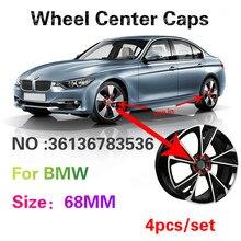 4X 68MM Acessórios Tampa do Cubo Tampa Centro Da Roda de Carro Para BMW X5 E70 E53 E46 E60 E90 F30 F10 E39 E36 F20 E87 E92 E91 r1200gs G30 M