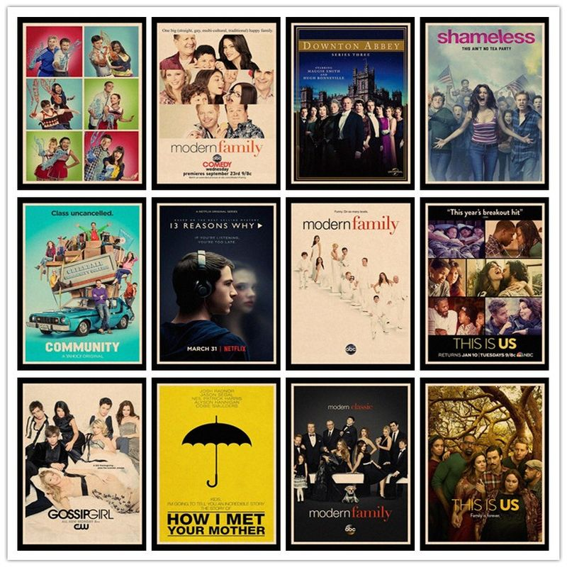 Perfect JL Le Shameless This Is Us Modern Family Gossip Girl Classic Movie Poster Gather HBA54