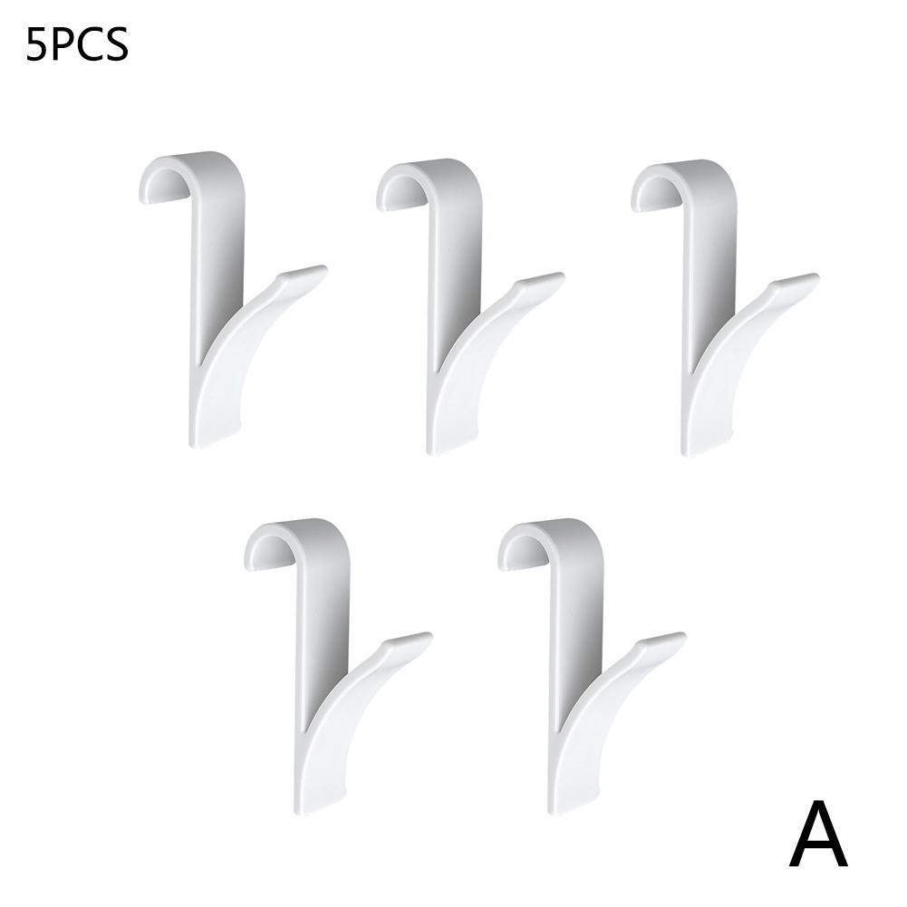 5PCS Towel Mop Hooks Hanger Storage Holders Clothes Tubular Radiator Hook Holder Hat Hook Bath Hooks For Bathroom Rail U8J8