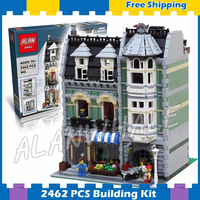 2352pcs Creator Expert Green Grocer Hall Apartments Construct 30005 Model Modular Building Gift sets Blocks Compatible with Lago