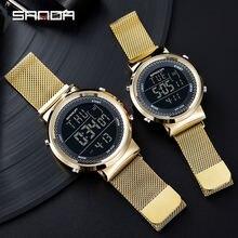 Часы sanda для пар модные цифровые часы мужчин и женщин роскошные