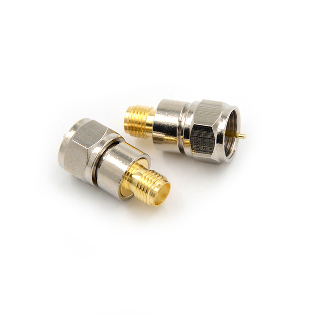 F Type Adapter Male Plug To SMA Female Jack Straight RF Coaxial Adapter Connector F Male To SMA Female Jack