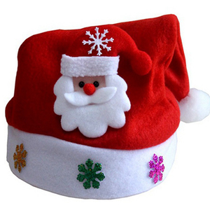 1pc Hot Sale Christmas Hat LED Snowman Elk Caps for Kids New Year Xmas Gift Home Decoration Christmas Ornament Santa Claus Hat