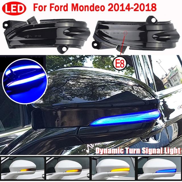 وميض ديناميكي لفورد مونديو MK5 2014 2019 MK V 5 ، إشارة انعطاف LED ، مصباح جانبي ، 2015 2016 2017 2018 MK V 5