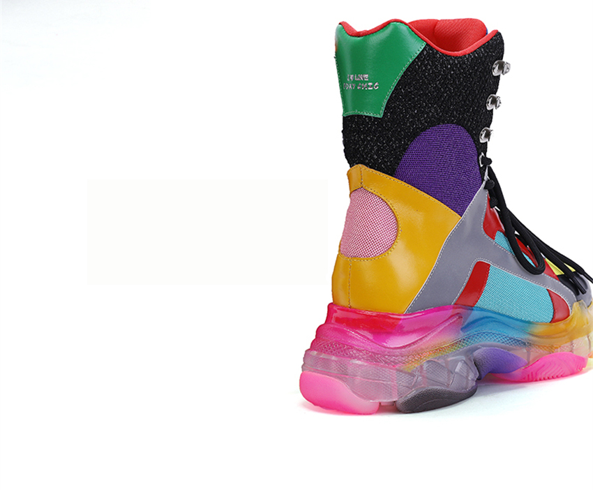 Colorful High Top Sneakers 7