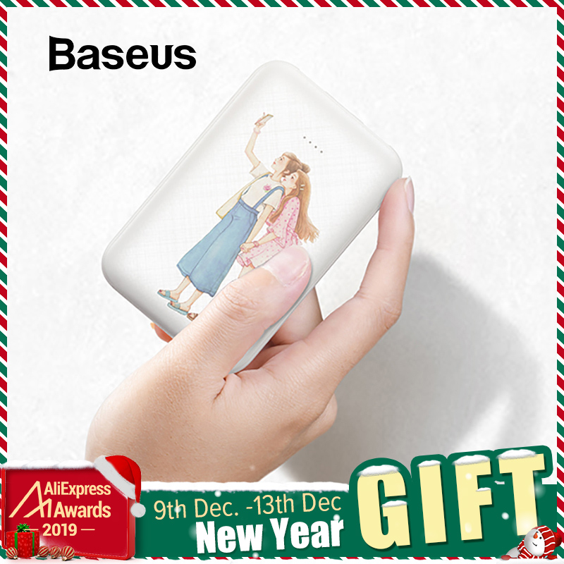 Baseus Cute 10000mAh Power Bank For IPhone Xs Max Samsung Huawei Mini Powerbank Fast Charge Portable External Battery Charger