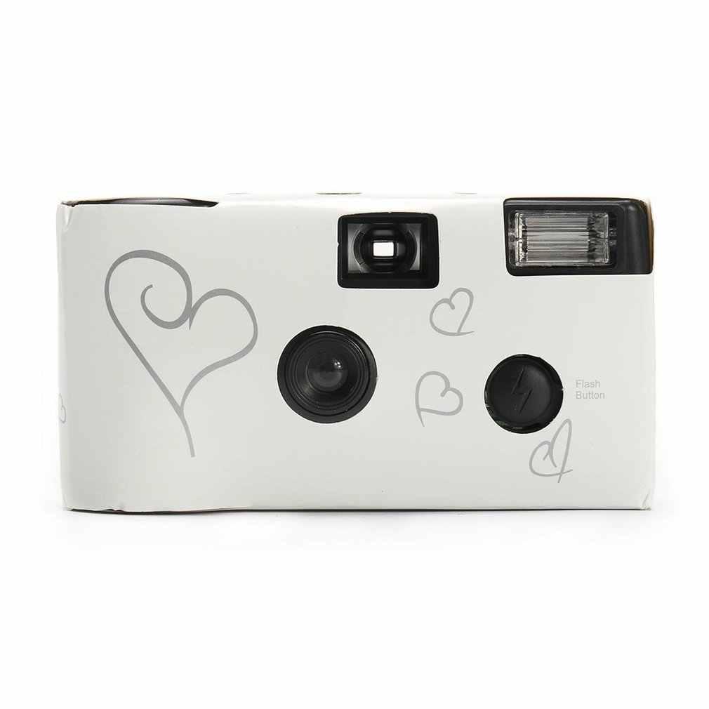 Kamera Film 36 Foto Putih Foto Power Flash HD Penggunaan Tunggal Satu Waktu Sekali Pakai Kamera Film Pesta Ulang Tahun Valentine hadiah Hari