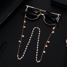 70 см Морская звезда ракушка солнцезащитные очки цепи жемчуг стразы шнурок для очков держатель шнурок ожерелье очки бисером шеи ремень веревка