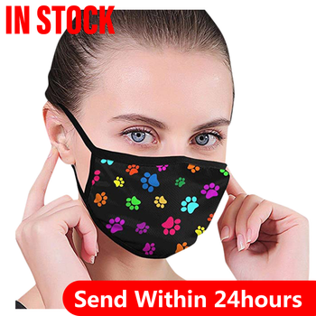 1pc Cotton Black Mask Mouth Face Mask ]PM2.5 Dust Mouth Mask 1pc Activated Carbon Filter Mask Fabric Face Mask was image