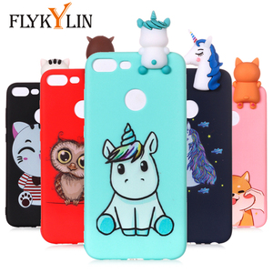 FLYKYLIN 3D Doll Toys Case For Huawei P Smart 2019 Back Cover on Honor 9 Lite 10 Lite Phone Coque Soft TPU Silicone Unicorn Skin(China)