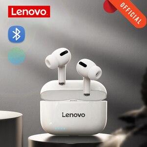 Image 1 - Lenovo LP1S אלחוטי אוזניות TWS אוזניות Bluetooth 5.0 עמיד למים ספורט אוזניות עם מיקרופון עבור אנדרואיד IOS Smartphone