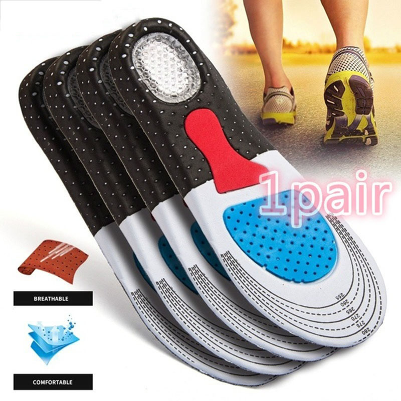 Unisex Silicone Gel Insoles Sport Shoe Pad Orthotic Arch Support Shoes Sole Insoles Cushion For Running Outdoor Camping Hiking
