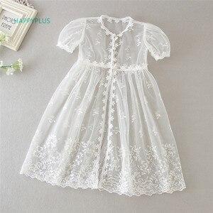 Image 3 - HAPPYPLUS Vintage vaftiz elbise bebek kız için Frocks dantel bebek duş elbise için vaftiz ikinci ilk doğum günü kıyafet kız