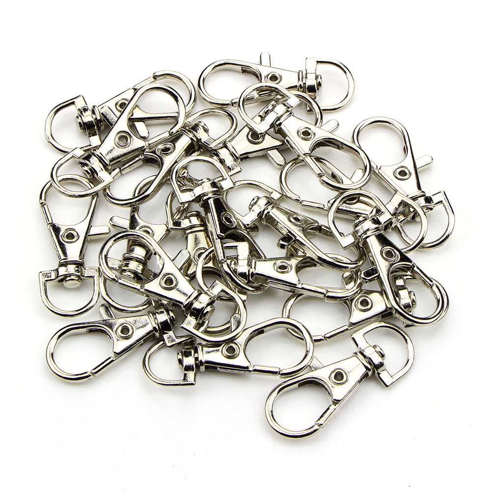 10pcs/pack Portable Metal Lanyard Hook Swivel Snap Lobster Clasp Clips For Bag Parts & Accessories Wholesale