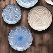 Столовая посуда в японском стиле Керамическая Тарелка фарфоровая