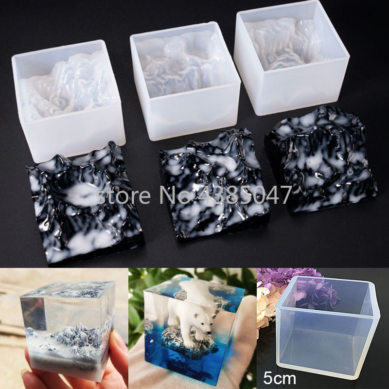 New Design Mountain Shaped Silicon Jewelry Tool Jewelry Accessories UV Resin Mold DIY Dried Flower Decoration Molds