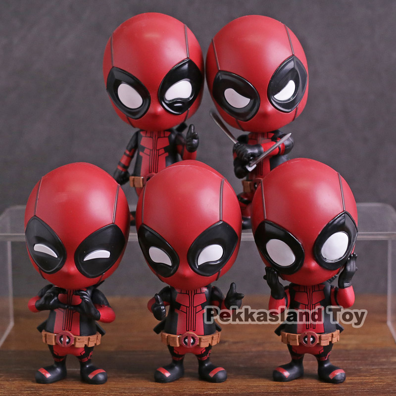 Hot Toys Cosbaby Deadpool Mini PVC Action Figure Collectible Model Toy Bobble Head Doll