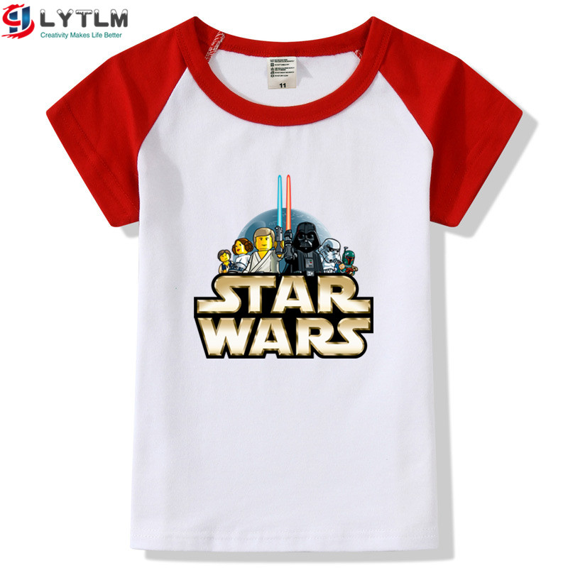 Garçons T Shirt Star Wars Dark Vador Kids Tops coton T-shirts 3-4 /& 5-6 ans