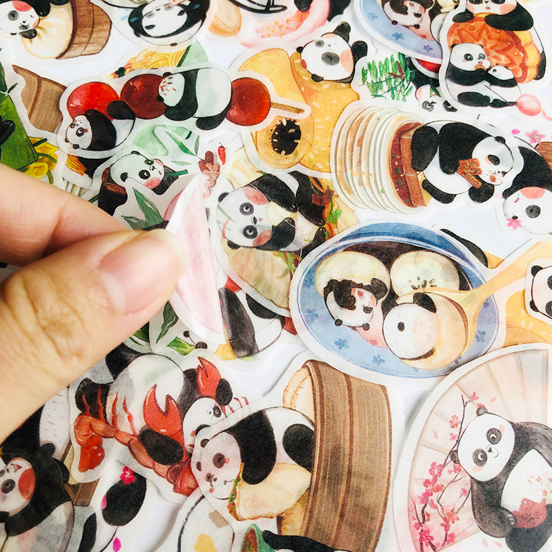 40 шт./упак. Kawaii Panda Family Washi бумажная декоративная наклейка