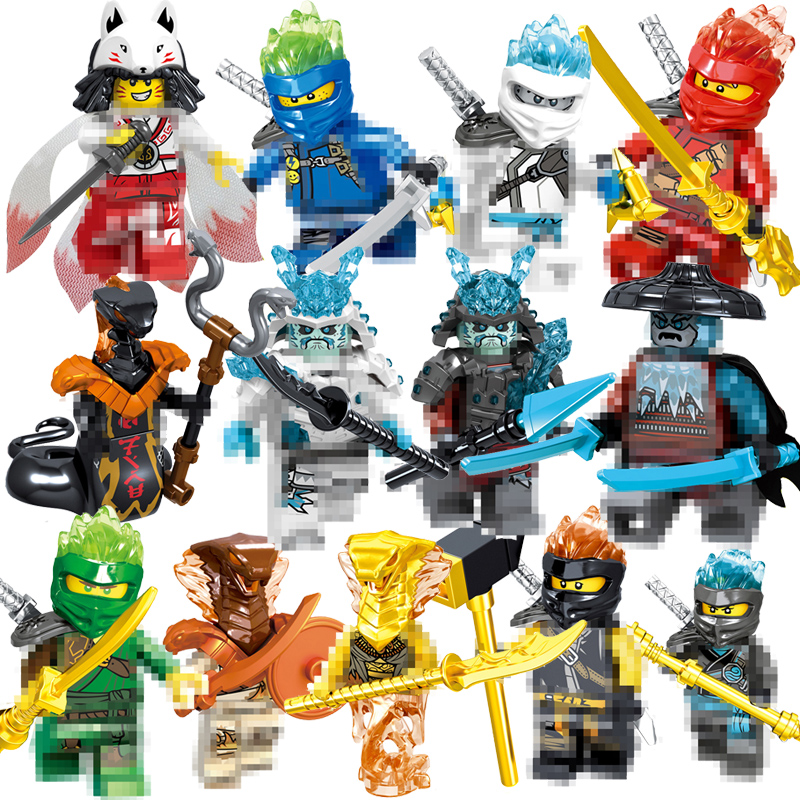 1pcs Ninja Kai Cole Jay Zane Lloyd Nya Mini Action Figures Building Blocks Kids Toy Gift Compatible Ninjagoed For Kid