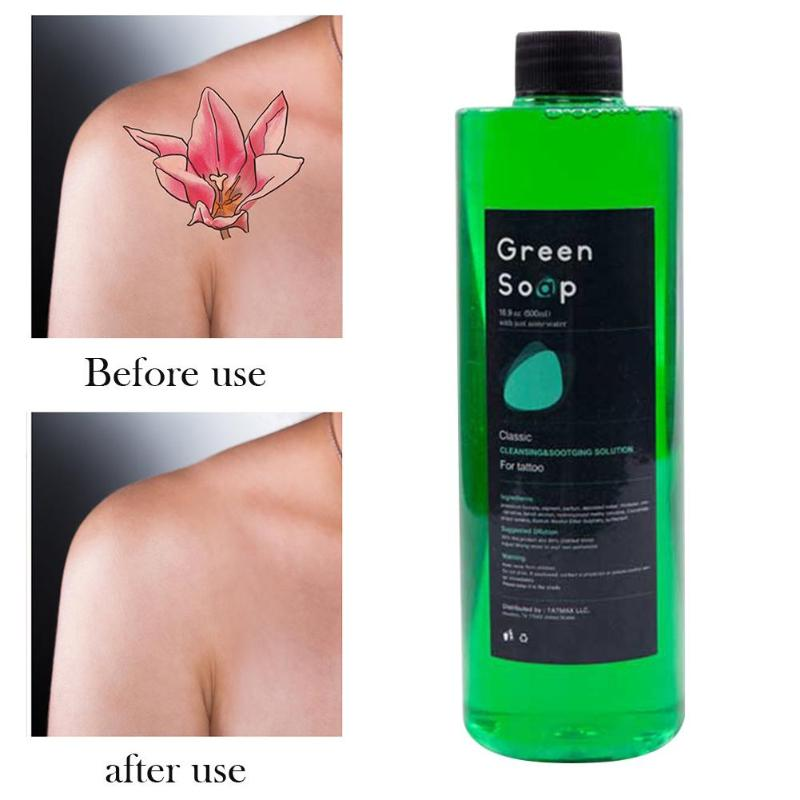 Tattoo Cleaning Solution Analgesic Effect Wound Tattoos Lighten Redness Green Algae Soap Tattoo Equipment Cleaning Liquid